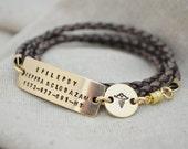 Tri Wrap Medical Alert Bracelet - Three Line - Double Charm