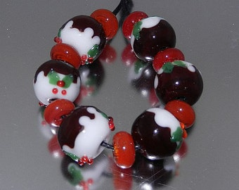 Xmas Pudding bead set FHFteam SRA UK