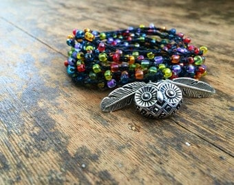 I Hoot U: Versatile crocheted necklace / bracelet / belt / headband