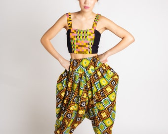 Indian Cotton Bianca Pants Yellow Green Orange