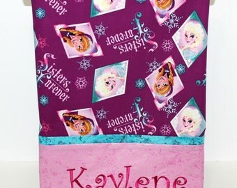 Frozen Pillowcase, girls pillowcase, Twin pillowcase