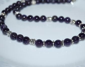 Men's Necklace, Mens Necklace, Amethyst Necklace, Natural Gemstone Necklace, Unisex Necklace