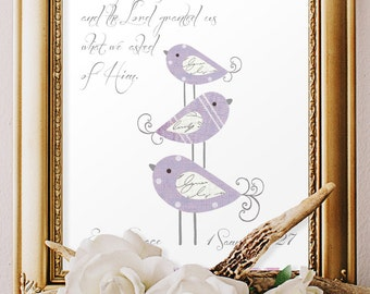 GIRLS BAPTISM GIFTS, Baby Dedication scripture verse, Godparents gift, 1 Sam 1:27, Christian art, Bible verse decor, personalized, lavender