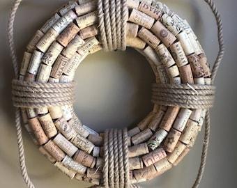 Wine Cork Life Ring Wall Hanging