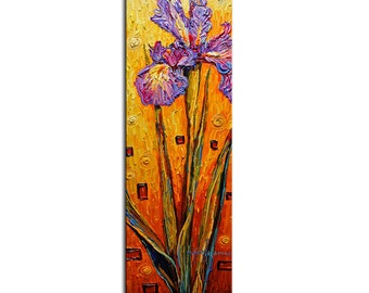 Wall Art Purple Iris Giclee PRINT on Canvas ready to hang Home Decor Picture blooming flowers summer blossom