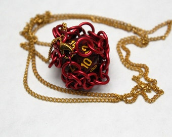Chain maille Dice Necklace