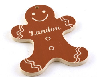 Personalized Christmas Ornament - Gingerbread Man