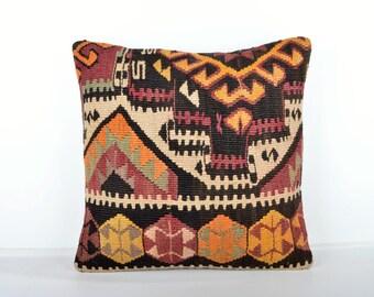 Kilim pillow cover, kp1457, Kilim Pillow, Turkish Pillow, Kilim Cushions, Kilim, Moroccan Pillow, Bohemian Pillow, Turkish Kilim