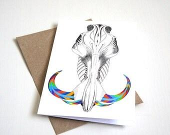 Warthog skull greeting card | A6 greeting card | animal card | pattern card | skull card