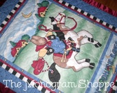 Daisy Kingdom Home on the Range Bunny Cowboy, Quilted Baby Crib Blanket, Quilt, Throw, with Satin Binding