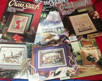 For the Love of Cross Stitch Magazine, 6 issues Full Year 1991, Leisure Arts