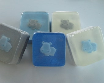Blue Hippo Soap Favors