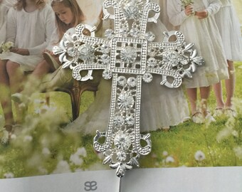 Baptism top cake, cake topper cross, fist communion too cake, religious top cake, center piece cross,