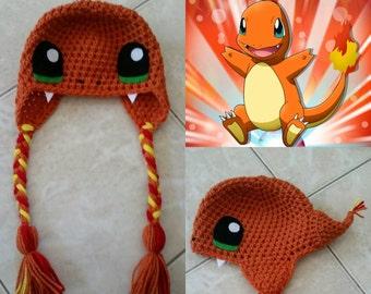 Crochet Charmander Beanie/Hat