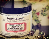 NEW~ Abominable Snowman Whipped Soap~ Fresh snow, white musk, frozen raspberries, white flowers in ice, sweet mint and cocao.