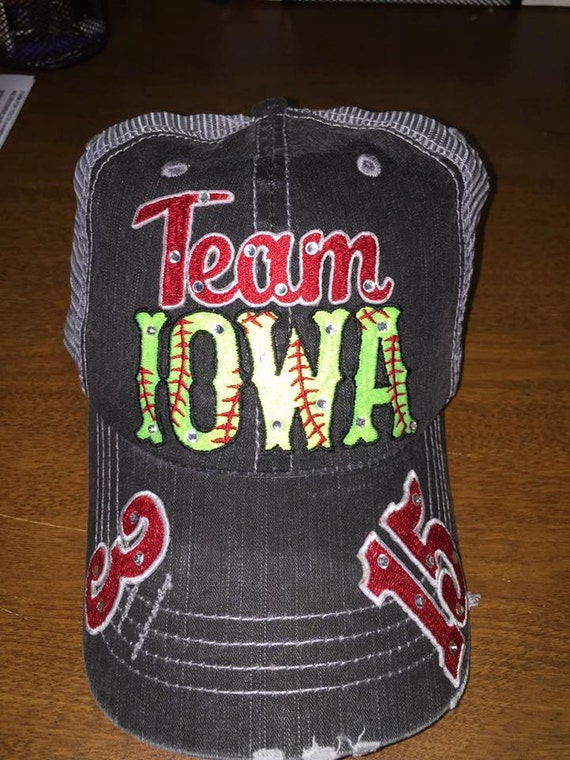 custom team baseball or softball hat