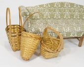 Dollhouse Baskets Miniature Baskets Dollhouse Wicker Baskets Miniature Wicker Baskets Miniature Weaving 3 Miniature Baskets