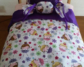 4 pieces bedding set for American Girl Doll.