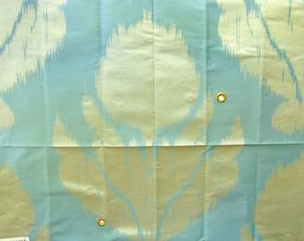 "Fabric Sample, Agra Silk Weave, Opal, 100% Silk, 26"" x 26"", Schumacher"