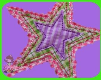 Raggedy Star Applique design