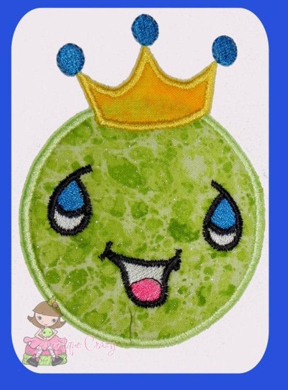 Big Bro Pea Applique Embroidery design