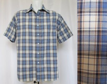 Vintage Men's Shirt  70's Pen West Pendleton Short Sleeve L