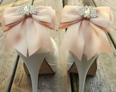 Wedding Shoe Clips,Bridal Shoe Clips,  MANY COLORS, Satin Bow Shoe Clips, Clips for Bridal Shoes, Wedding Shoes, Bow Shoe Clips, Mauve