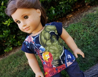 Hulk Smash! Tee for American Girl Dolls