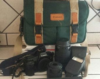 35 mm EOS Rebel film camera w/35-80 +70-300 Lenses and case