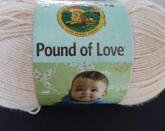 1 skein Lion Brand Yarn pound of love Brige