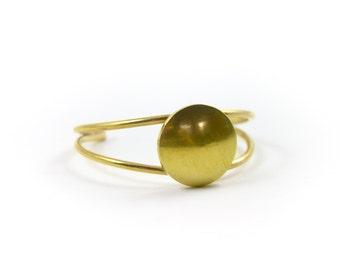 Orbital Cuff || Modern Gold Cuff Bracelet