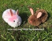 Pom Pom Bunnies - Easter Bunnies - Easter Basket Stuffers