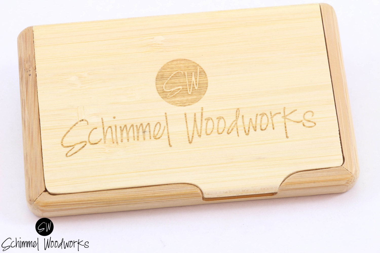 Custom Engraved Wood Business Card Holder, Groomsmen Gift,