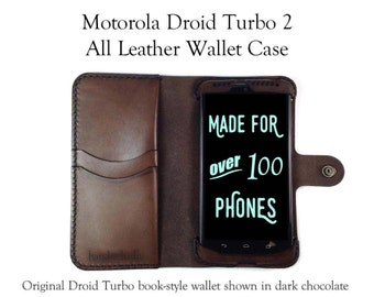 Moto X Force (AKA Droid Turbo 2) Leather Wallet Case / Moto X Force Case