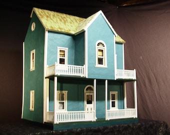 One-of-a-kind Original Papier Mache Dollhouse Victorian three-story farmhouse