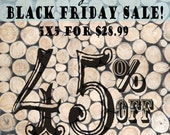 BLACK FRIDAY SALE / 45 Percent off!! / 5ft x 5ft Stacked Logs / Special