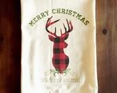 Merry Christmas Ya Filthy Animal Flour Sack Tea Towel