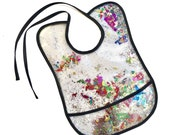 Rainbow Sequin and Glitter Plastic Baby Bib