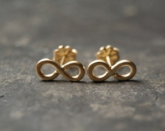 Infinity Stud Earrings in 14kt Yellow Gold - Made to Order