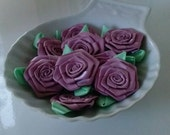 Flowers Roses One Dozen Pink Mauve One and Half Inch