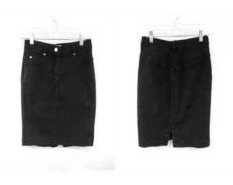 High Waist Tight Black Pencil Skirt XS-S