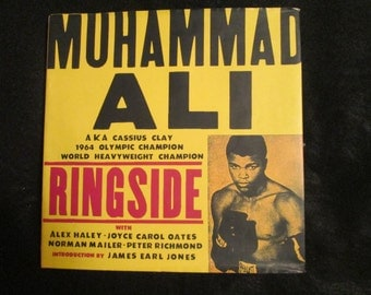 1990's Hardback Book of MUHAMMAD ALI/Ringside A. K. A. Cassius Clay