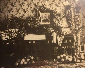 Post Mortem Original Funeral photo framed