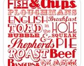 English Dinner Coaster - Set of 4