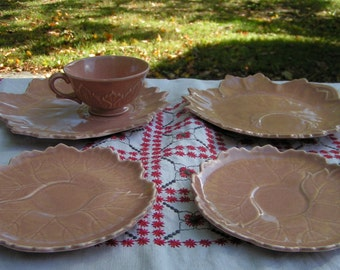 Steubenville Woodfield Tea and Luncheon Set - Leaf Pattern