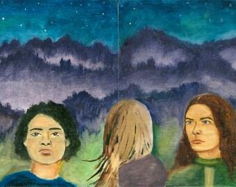 Stargazer Ladies Oil Painting