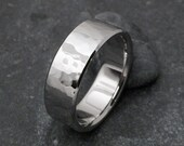 Titanium Hammered Ring, Titanium Band, Mens Ring, Womens Ring, Titanium Wedding Ring, Wedding Band, Engagement Ring, Hammered Band, Promise