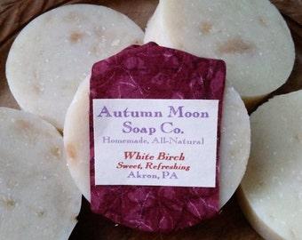 White Birch ALL-NATURAL Bar Soap & Shampoo Bar, palm-free, vegan, birch essential oils soap