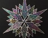 stained glass snowflake suncatcher  (design 35B)