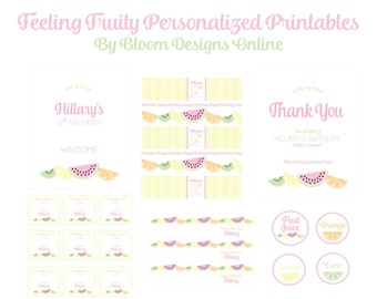 Feeling Fruity- PERSONALIZED Party Kit by Bloom